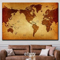 Old World Map Antique and Vintage World Maps Canvas Art Print for Wall Decor