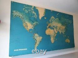 Original Vintage 7 ft. Map Air france Airport route Map SIGNED B AUTHOR hardback