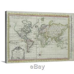 Premium Thick-Wrap Canvas Wall Art entitled Map of the world