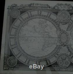 SALE! 1688 Large Map Of World By Jaugeon 39 x 24 inches