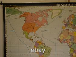 Schulwandkarte World Map 1945-1980 270x168 Vintage Wall Map 1982 Nuclear Weapons