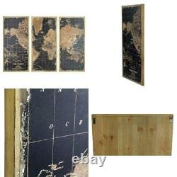 Stanford World Map Wall Decor (Set of 3)