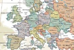Swiftmaps World Wall Map Modern Day as Antique Edition
