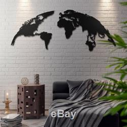 The Globe Metal World Map Wall Sign Decoration Steel Art Office Housewarming