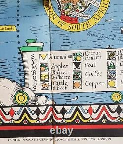 The Time & Tide Map of the Atlantic Charter Macdonald Gill George Phillips 1942