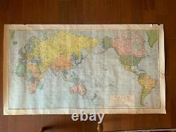 The World Mercator's Projection WAR DEPARTMENT, ARMY MAP SERVICE AMS 1944 RARE
