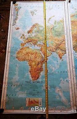 The World Vintage Original 3 Panel Army AMPV Series 1125 Wall Map RARE FIND