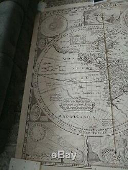 Vintage Mural 1977 Antique World Map (1651) by National Geographic 72 X 93