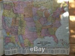 Vintage World Leaders Map Geographical Publishing Company World Wall Atlas