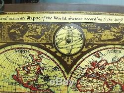 Vtg 1964 Masketeers Old World Map of 1628 Large Wall Art World Map Jere Era