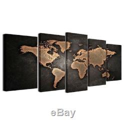 World Map Framed Canvas Print Wall Art Decor Poster Vintage
