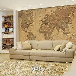 Wall26 Antique Monochrome Vintage Political World Map Wall Mural- 100x144