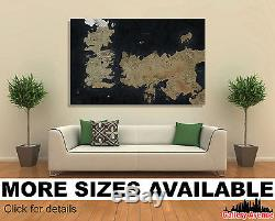 Wall Art Canvas Picture Print Game of Thrones The Known World Map 3.2