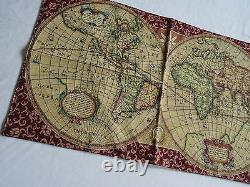 Wall Carpet Tapestry Italy Old Map World Atlas Antique Design Red Tapestery 116