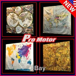 Wall Hanging Tapestry Decor Bedspread Classic Antique Nautical World Map Poster