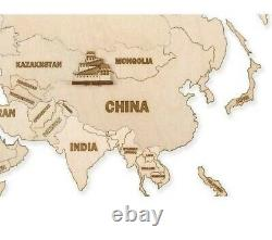 Wall home decor Wood Trick World map 200cm × 120cm (7947in)
