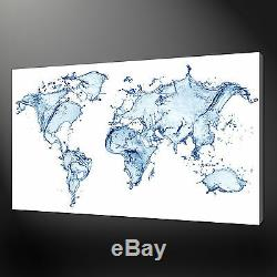 Water Map Of The World Canvas Print Picture Wall Art Variety Of Sizes