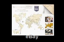 Wooden World Map 3D puzzle, Wall decor, Travel, Wooden models, gift, tourist