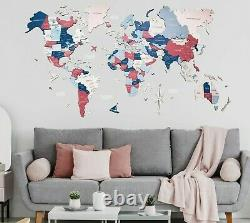 Wooden World Map Enjoy the Wood Wall Décor Unique Gift Wall Art