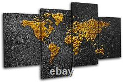 World Atlas Modern Abstract Maps Flags MULTI CANVAS WALL ART Picture Print