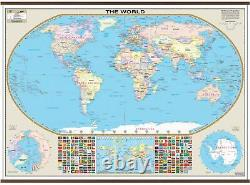 World Large Scale Wall Map