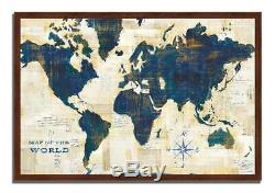 World Map Collage Framed Painting Print Wall Art ID 3956239