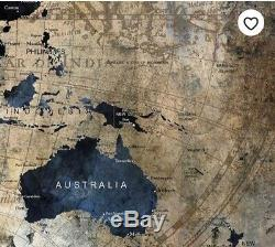 World Map Wall Art Extra Large 146cm x 76cm BRAND NEW RRP £160
