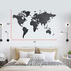 World Map Wall Art Wooden World Map Decor / Wall Decoration / Wooden Decor for
