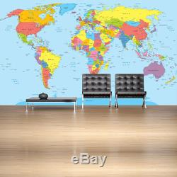 World Map Wall Mural Maps Photo Wallpaper Living Room Bedroom Home Decor