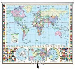 World Primary Classroom Wall Map