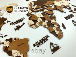 World Wall Map Anniversary Gift World Map Wooden Travel Push Pin Map Rustic Home